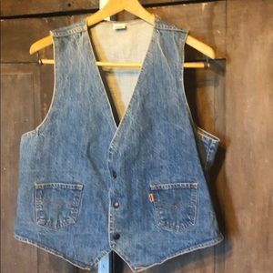 VTG 1960s Orange tab Levi's denim vest